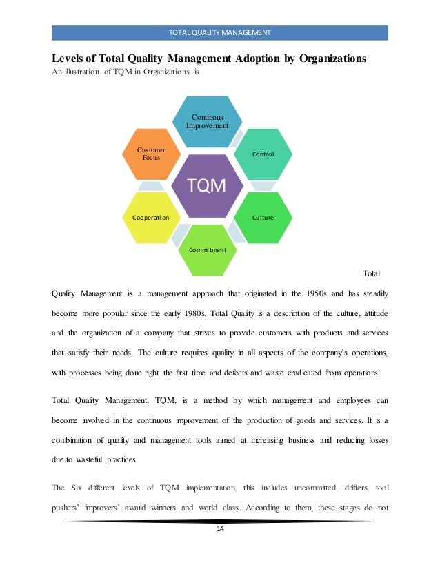 research papers on tqm implementation
