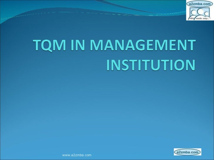 thesis on tqm in education