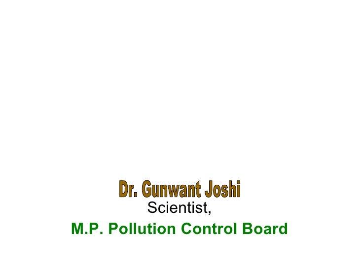 Scientist, M.P. Pollution Control Board