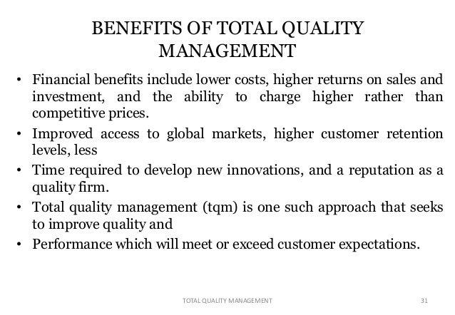 Total Quality Management Essay