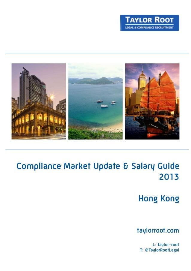 Taylor Root Hong Kong - Compliance Salary Guide 2013