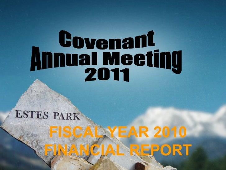 Treasurer's Report (2011)