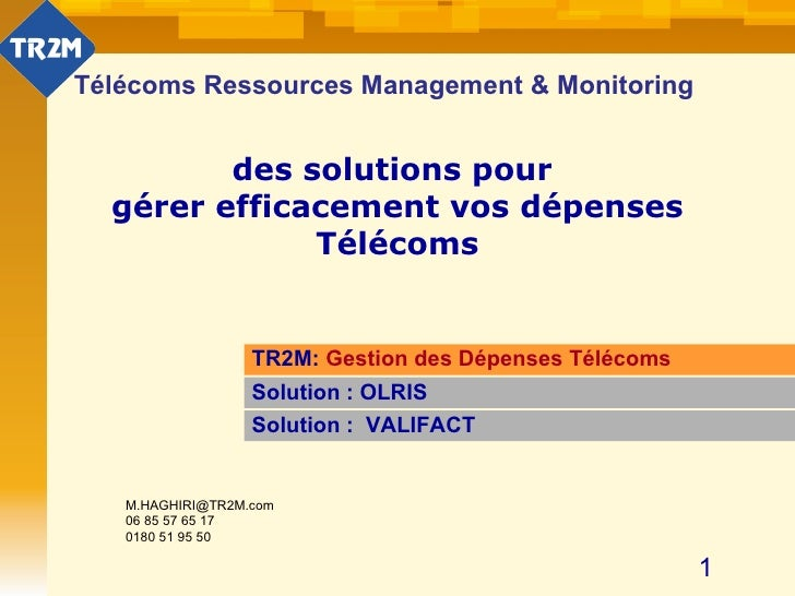 Gestion factures Mobile Fixe