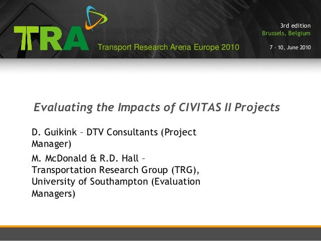 3rd edition                                                     Brussels, Belgium              Transport Research Arena Eu...