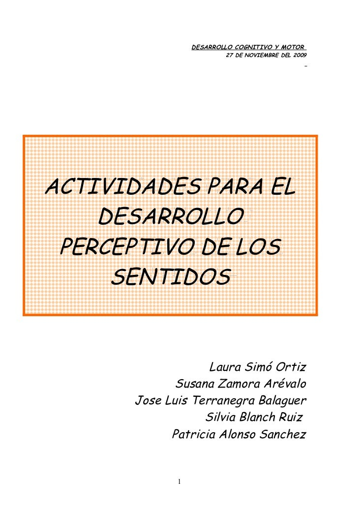 DESARROLLO COGNITIVO Y MOTOR                          27 DE NOVIEMBRE DEL 2009      ACTIVIDADES PARA EL ACTIVIDADES PARA E...