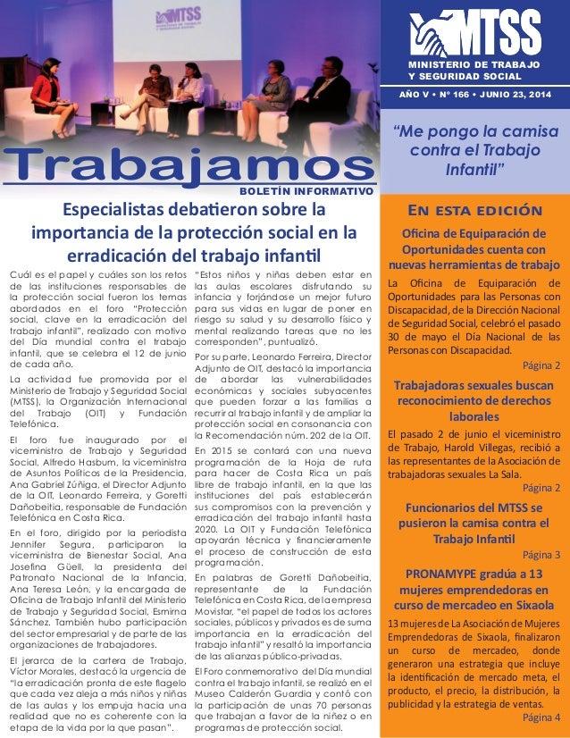 Especialistas debatieron sobre la importancia de la protección social en la erradicación del trabajo infantil En esta edic...