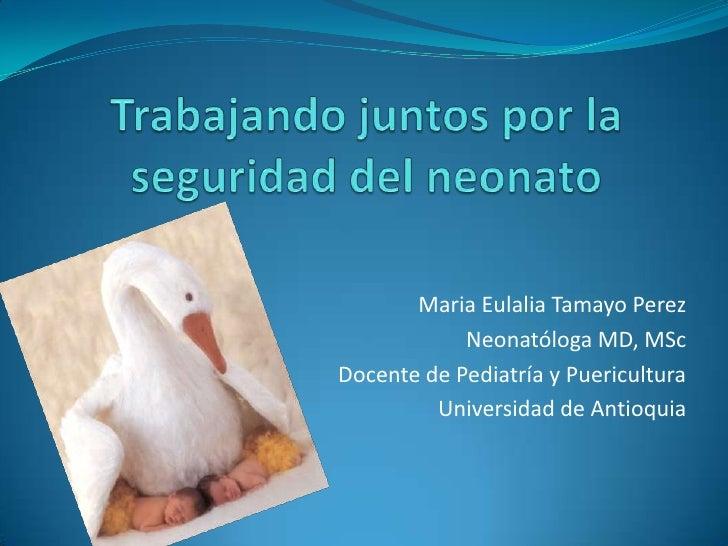 Maternidad segura: panorama mundial y regional. Avances en Colombia.  Hernán Rodríguez González Consultor OPS/OMS  21 de a...