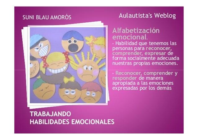 Alfabetizaciónemocional.• Habilidad que tenemos laspersonas para reconocer,reconocer,comprender, expresarcomprender, expre...