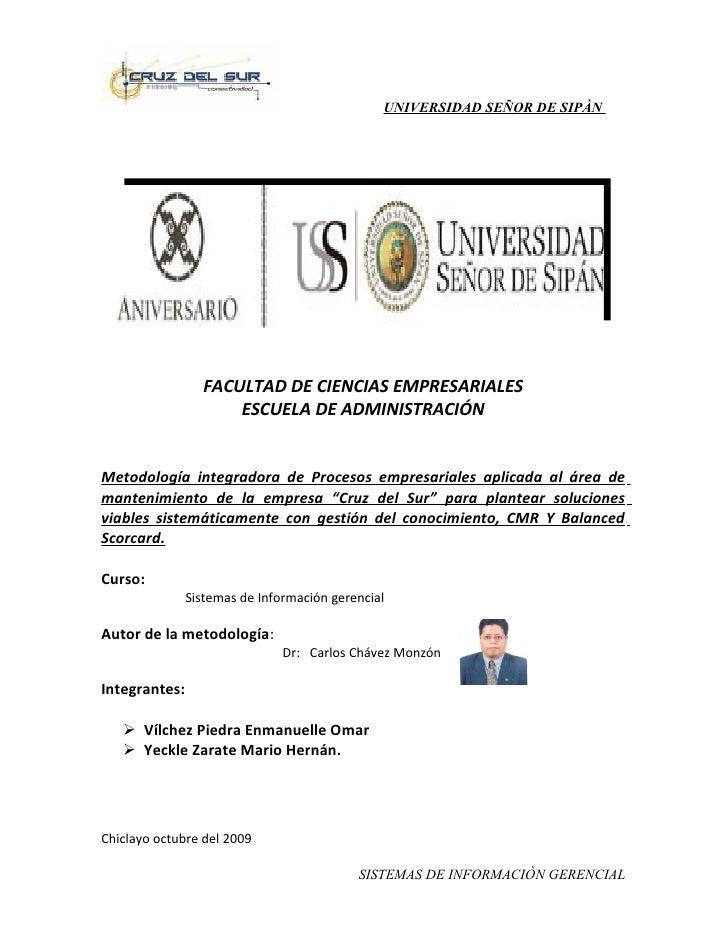 UNIVERSIDAD SEÑOR DE SIPÀN                      FACULTAD DE CIENCIAS EMPRESARIALES                      ESCUELA DE ADMINIS...