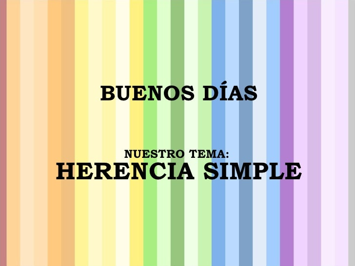 HERENCIA SIMPLE(beta)
