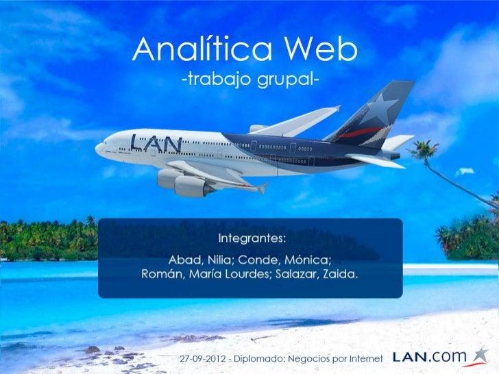ANALITICA WEB              LAN.COMAbad, Nilia; Conde, Mónica; Román,   María Lourdes, Salazar, Zaida