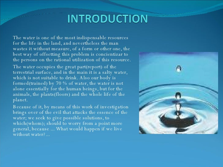 Importance of Water - Essay, Speech, Article, Paragraph
