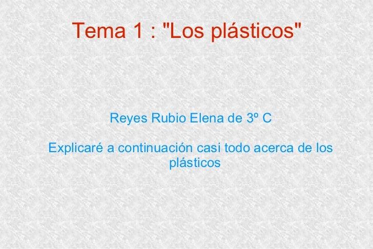 Trabajo de los plásticos
