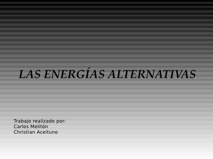 Trabajo Energia Alternativa