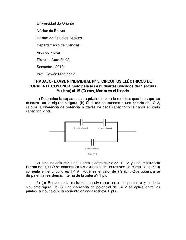 Universidad de Oriente Núcleo de Bolívar Unidad de Estudios Básicos Departamento de Ciencias Area de Física Física II. Sec...