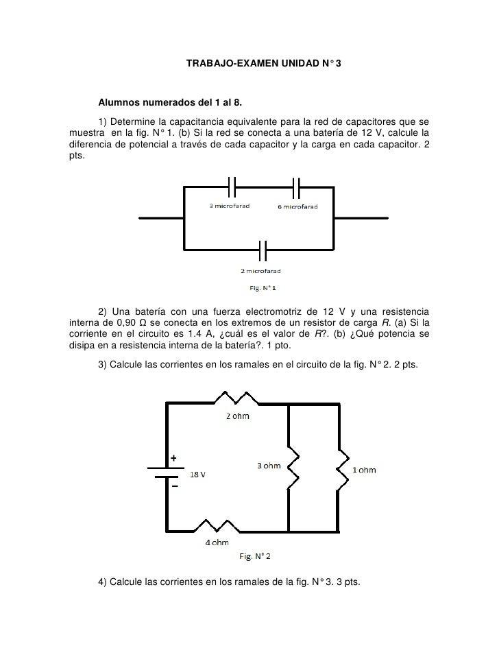 Trabajo-Examen N° 3. Física II. Sección 08.