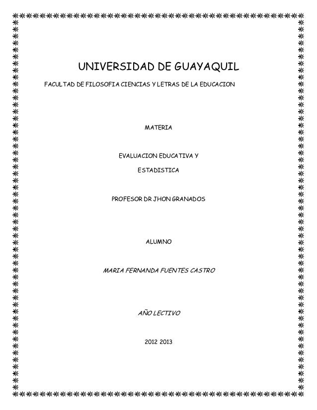 UNIVERSIDAD DE GUAYAQUILFACULTAD DE FILOSOFIA CIENCIAS Y LETRAS DE LA EDUCACION                             MATERIA       ...