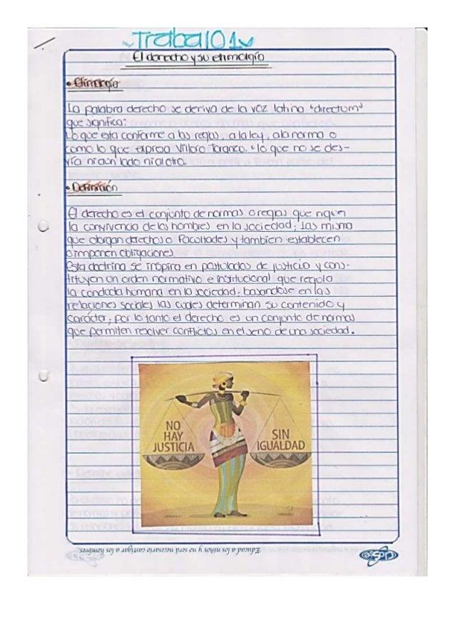 Trabajo1. derecho, etimología y acepciones