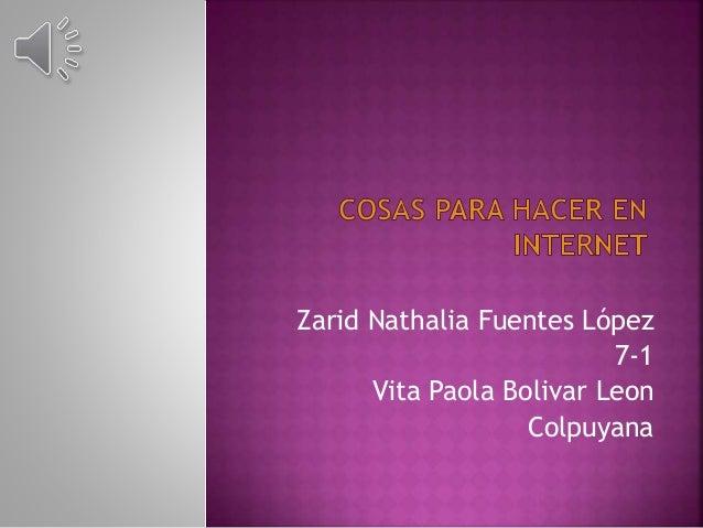 Zarid Nathalia Fuentes López 7-1 Vita Paola Bolivar Leon Colpuyana