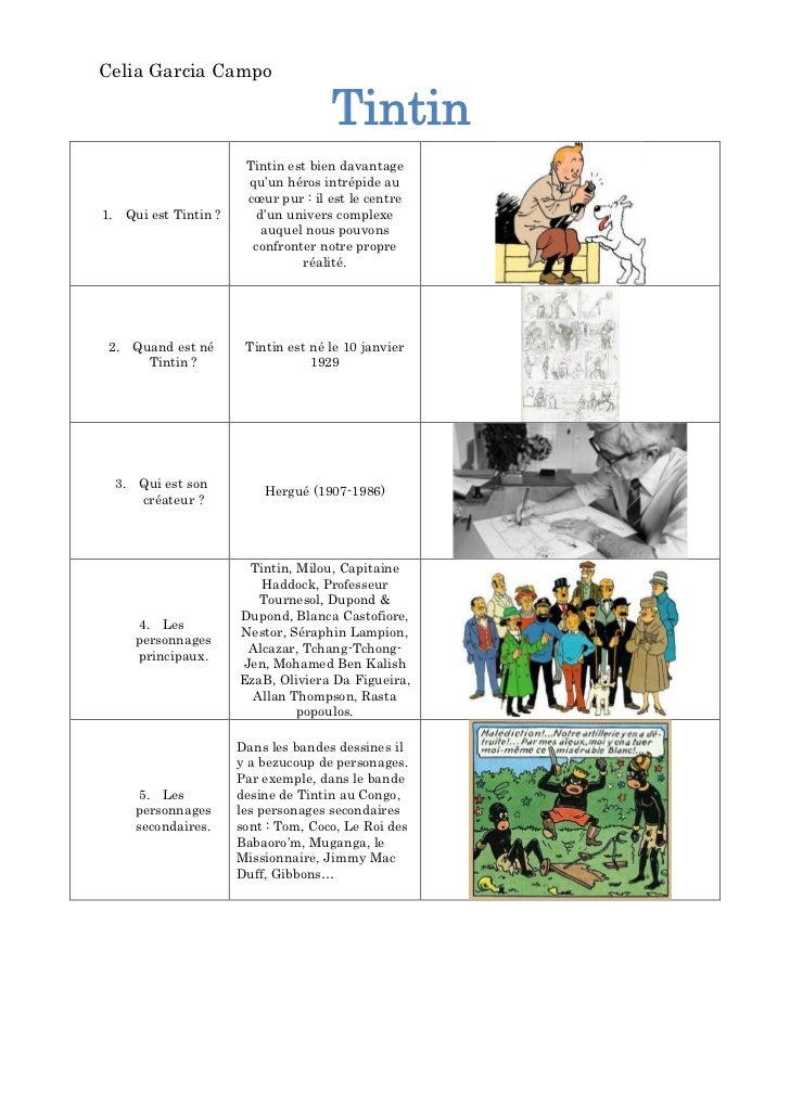 Celia Garcia Campo                                     Tintin                       Tintin est bien davantage             ...