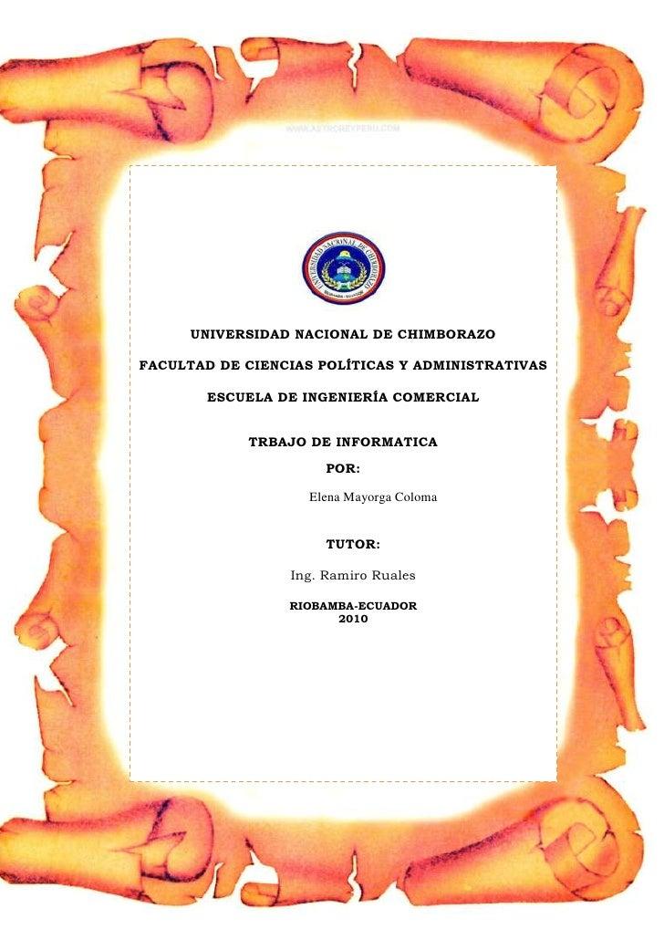 -1271905-738505<br />UNIVERSIDAD NACIONAL DE CHIMBORAZOFACULTAD DE CIENCIAS POLÍTICAS Y ADMINISTRATIVASESCUELA DE INGENIER...
