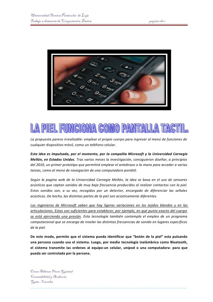 Universidad Técnica Particular de Loja Trabajo a distancia de Computación Básica                                 pagina 1d...
