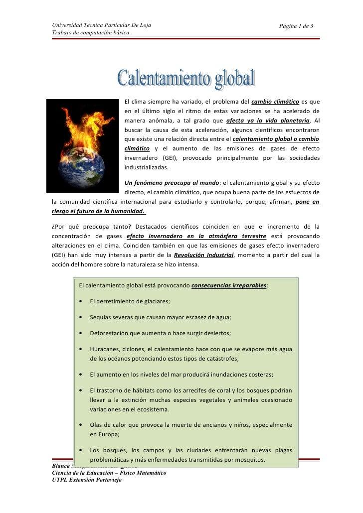 Universidad Técnica Particular De Loja                                             Página 1 de 3 Trabajo de computación bá...