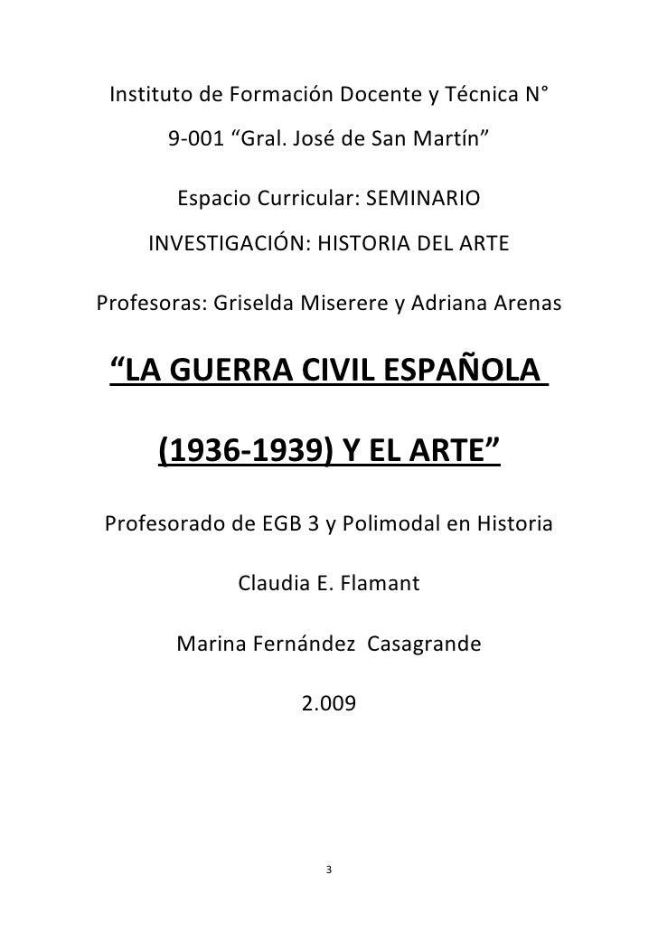 """Instituto de Formación Docente y Técnica N°       9-001 """"Gral. José de San Martín""""       Espacio Curricular: SEMINARIO    ..."""