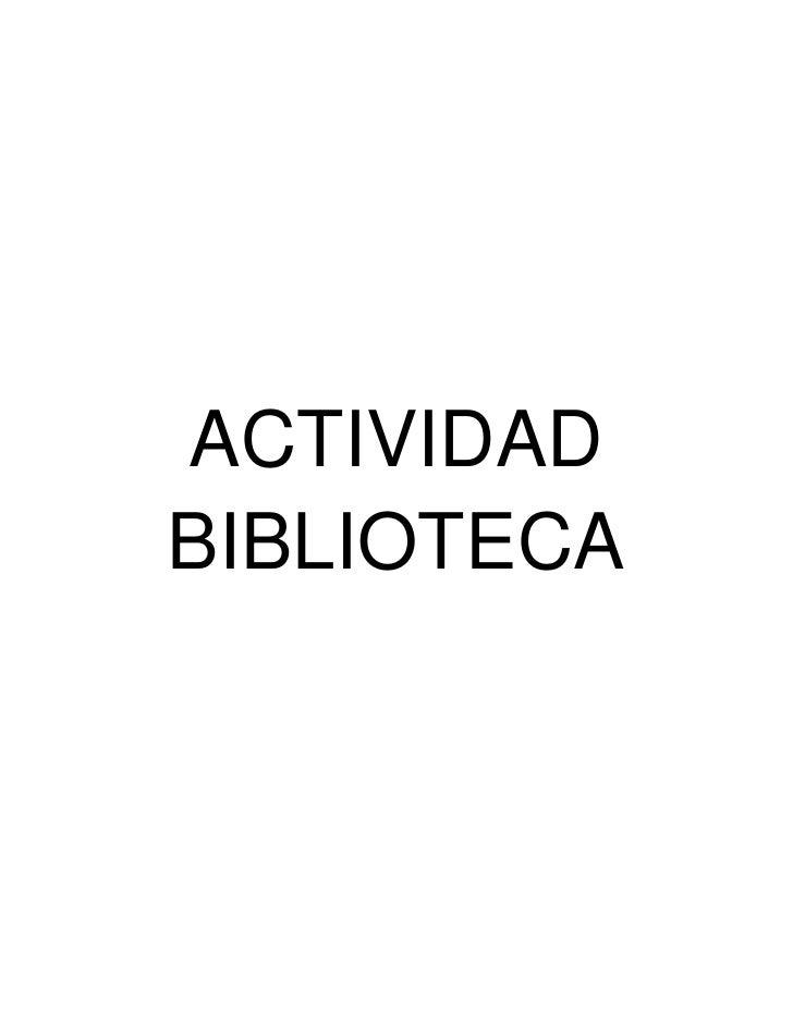 ACTIVIDADBIBLIOTECA