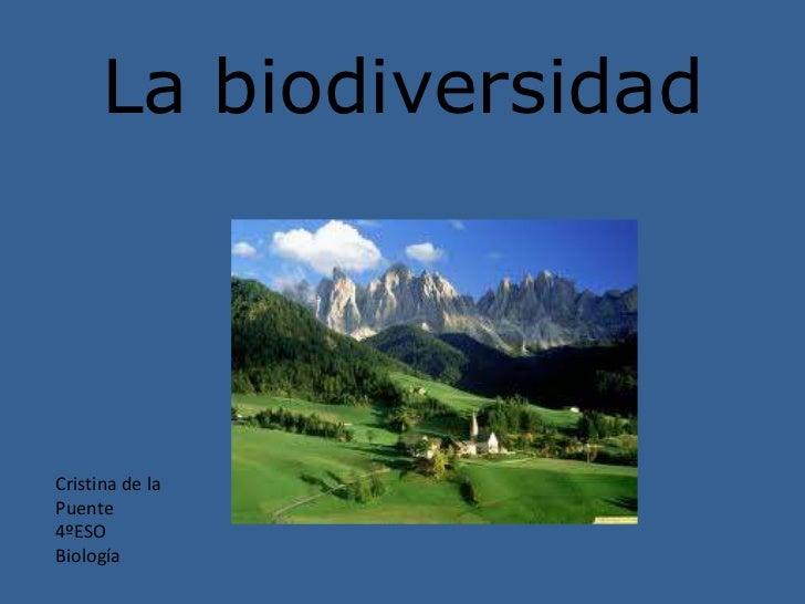 La biodiversidad                   nCristina de laPuente4ºESOBiología