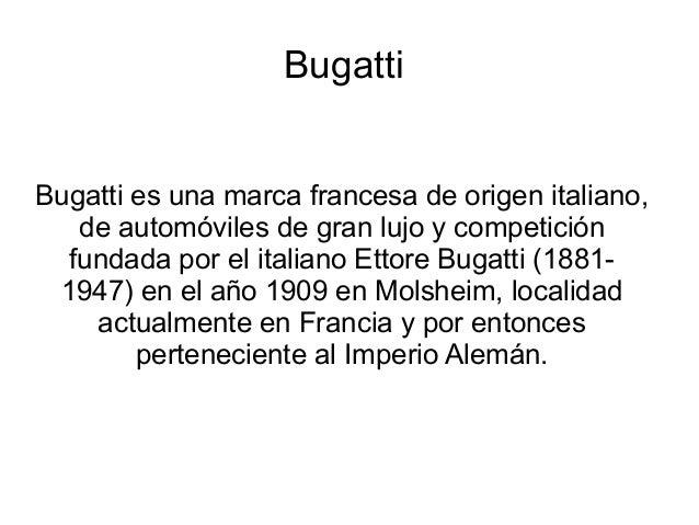 Trabajo bugatti.