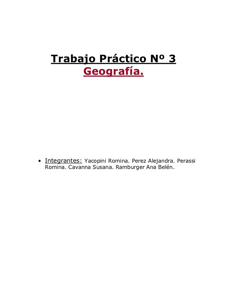 Trabajo de Geografia Nº 3