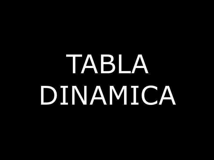 TABLA DINAMICA