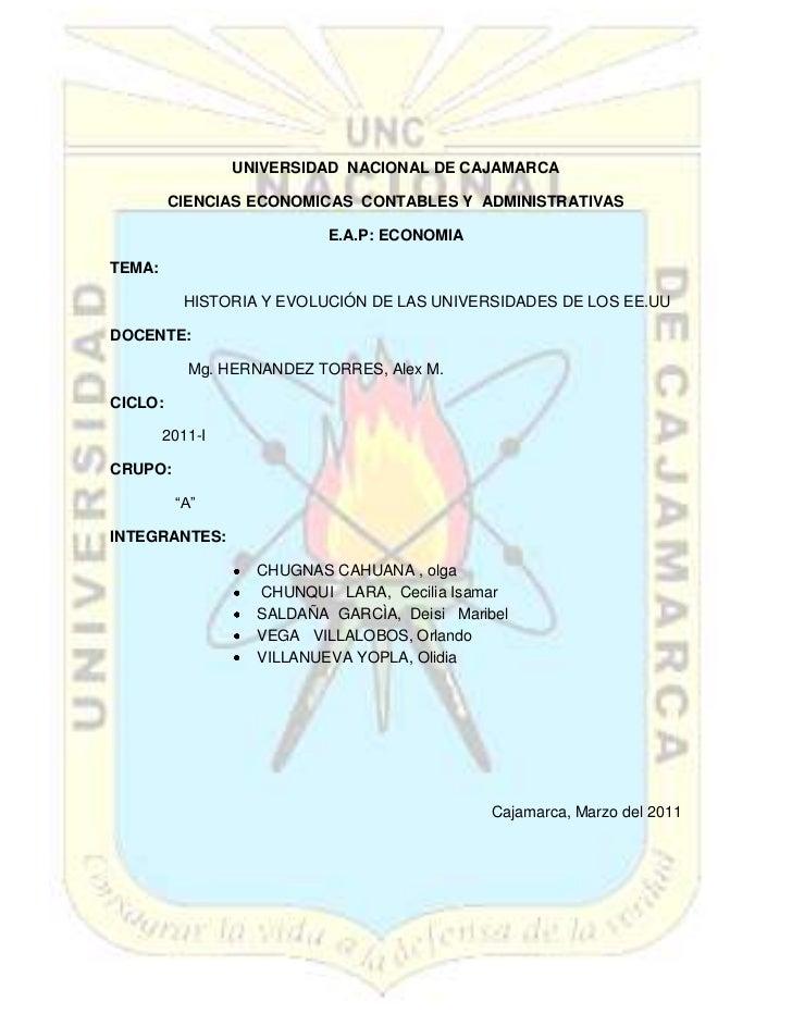-603057-820282<br />UNIVERSIDAD  NACIONAL DE CAJAMARCA<br />CIENCIAS ECONOMICAS  CONTABLES Y  ADMINISTRATIVAS<br />E.A.P: ...