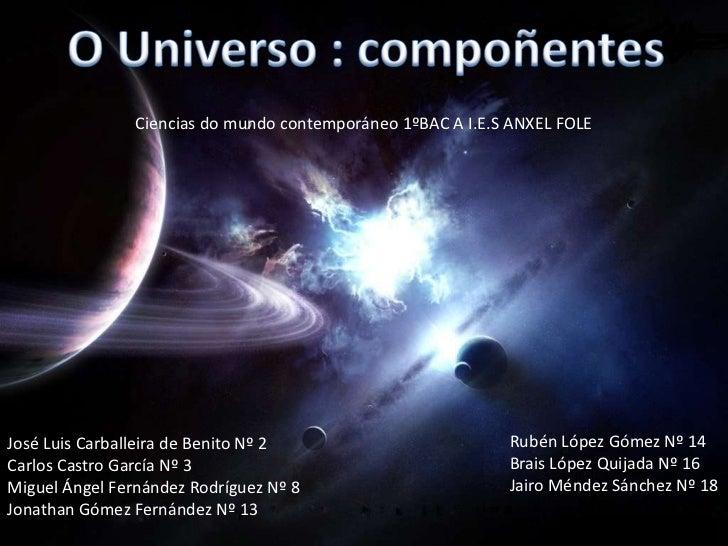 Ciencias do mundo contemporáneo 1ºBAC A I.E.S ANXEL FOLEJosé Luis Carballeira de Benito Nº 2                         Rubén...