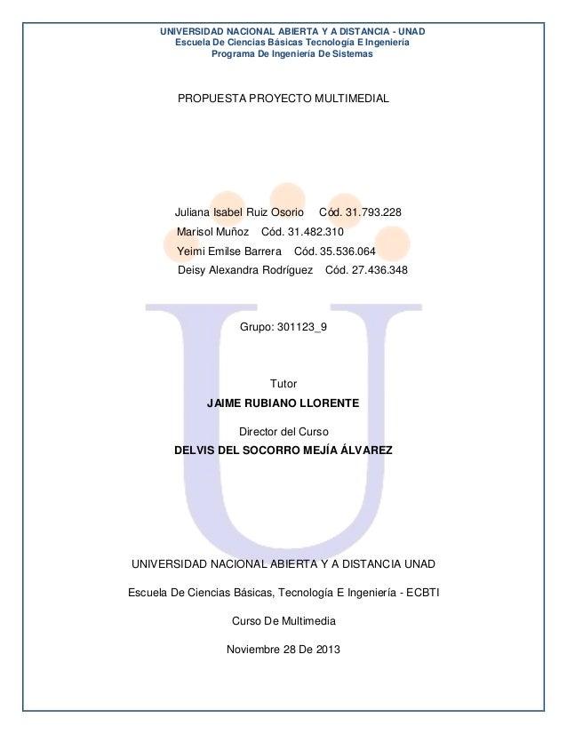 UNIVERSIDAD NACIONAL ABIERTA Y A DISTANCIA - UNAD Escuela De Ciencias Básicas Tecnología E Ingeniería Programa De Ingenier...