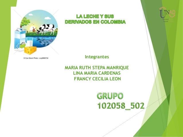 Integrantes MARIA RUTH STEPA MANRIQUE LINA MARIA CARDENAS FRANCY CECILIA LEON