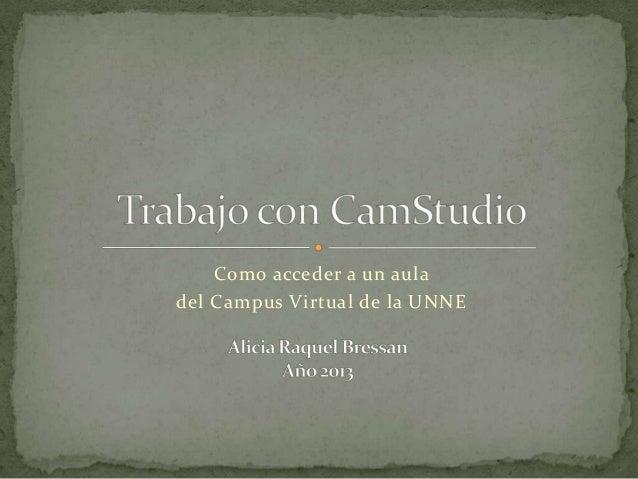 Como acceder a un auladel Campus Virtual de la UNNE