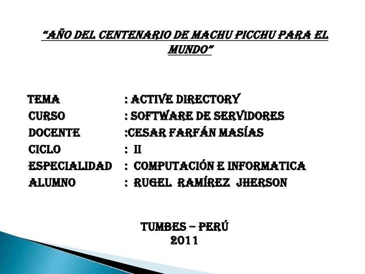 Trabajo de active directory