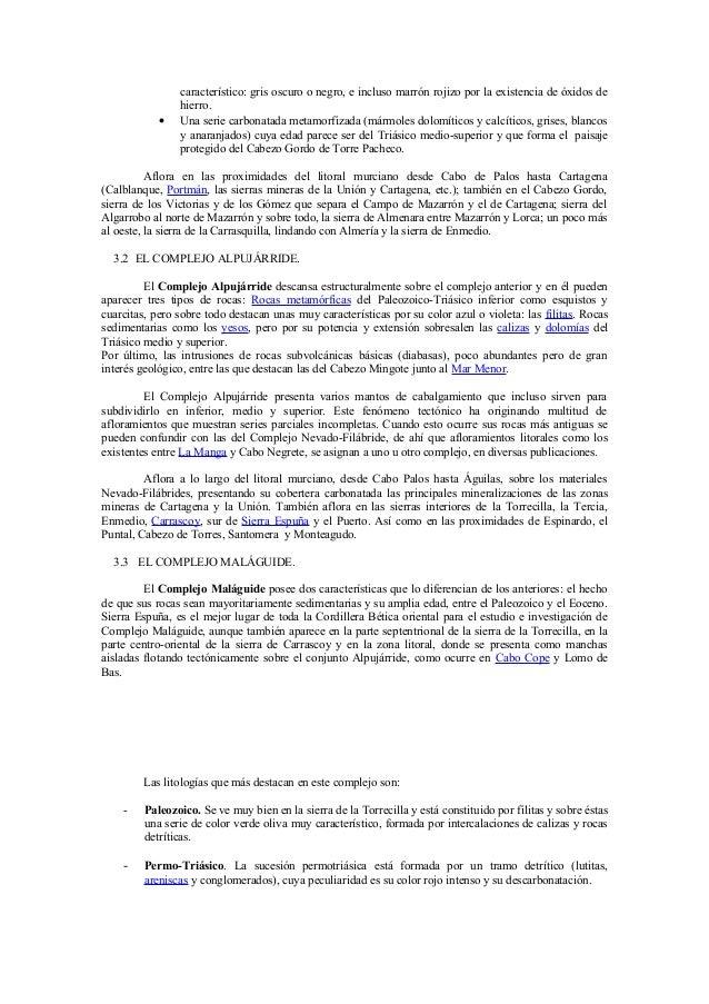 Geolog a y vulcanismo en la regi n de murcia - Marmoles torre pacheco ...