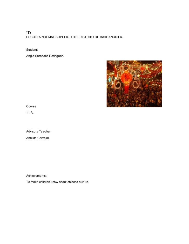 ID.<br />ESCUELA NORMAL SUPERIOR DEL DISTRITO DE BARRANQUILA.<br /> <br />Student:<br />Angie Caraballo Rodriguez.<br />Co...