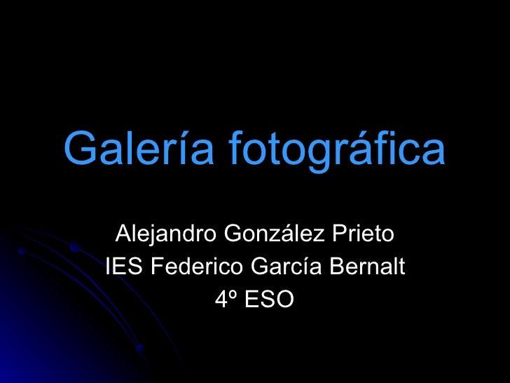 Galería fotográfica Alejandro González Prieto IES Federico García Bernalt 4º ESO