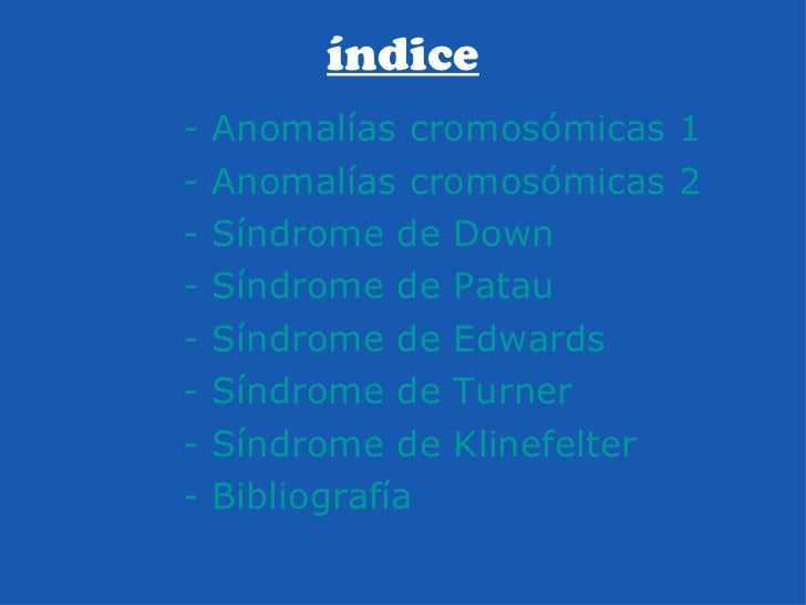trabajo sobre anomalías cromosómicas