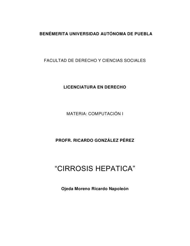 Trabajo De Cirrosis