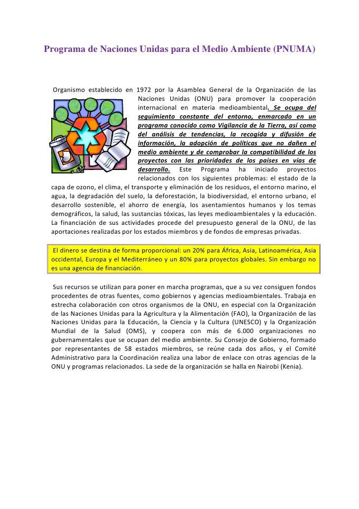 -318135-582930Programa de Naciones Unidas para el Medio Ambiente (PNUMA) 00Programa de Naciones Unidas para el Medio Ambie...