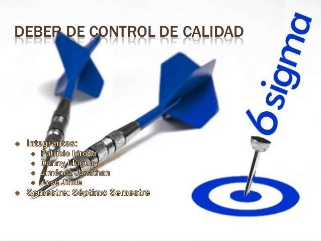 DEBER DE CONTROL DE CALIDAD