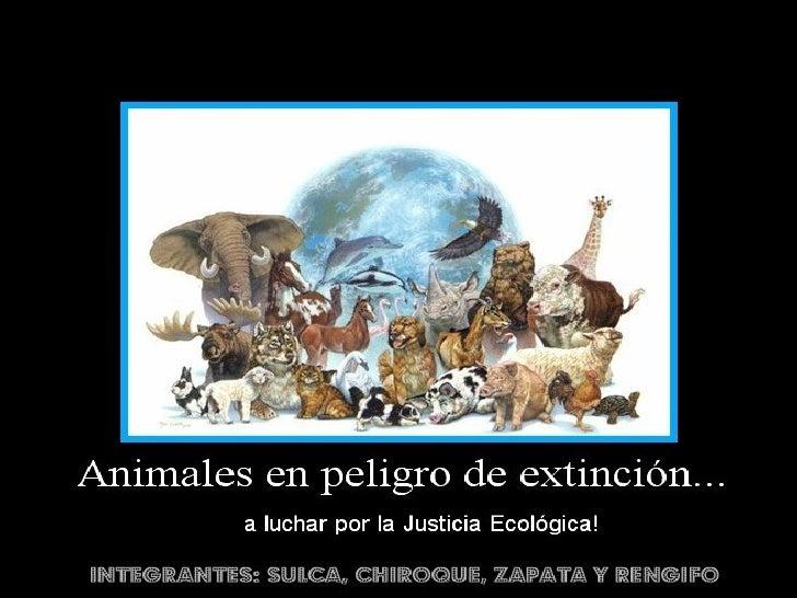 En biología y ecología, extinción es la desaparición detodos los miembros de una especie o un grupo detaxones. Se consider...