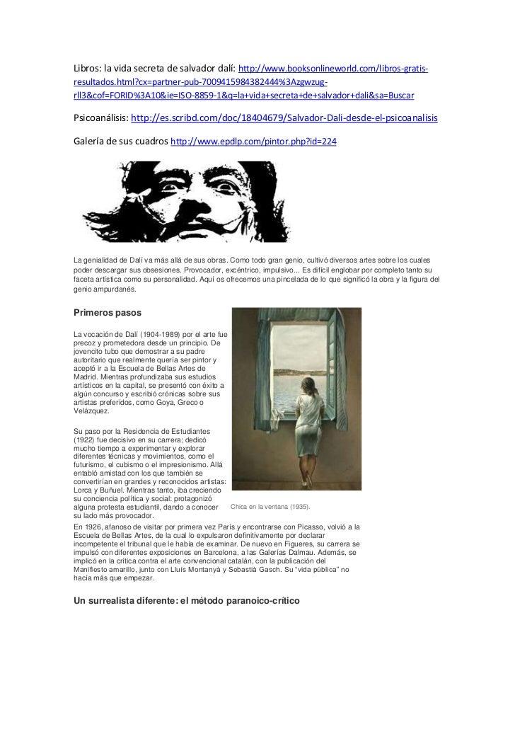 Libros: la vida secreta de salvador dalí: http://www.booksonlineworld.com/libros-gratis-resultados.html?cx=partner-pub-700...