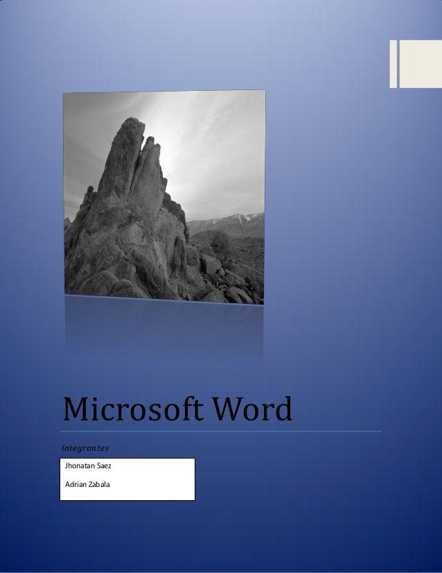 INTRODUCCION A MICROSOFT WORD