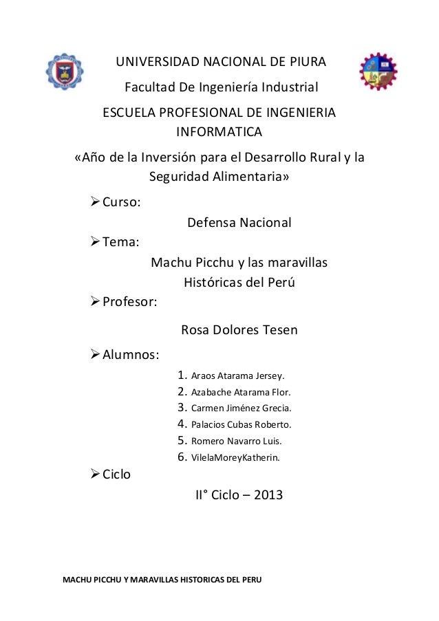 UNIVERSIDAD NACIONAL DE PIURA Facultad De Ingeniería Industrial ESCUELA PROFESIONAL DE INGENIERIA INFORMATICA «Año de la I...